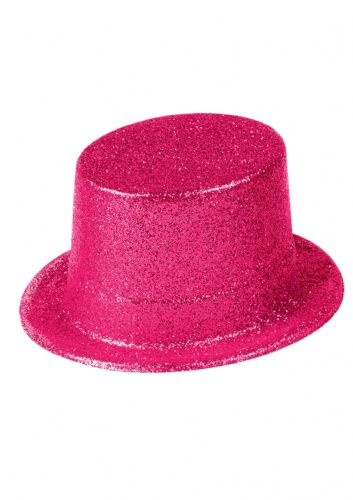 Hat Topper Glitter Pink Adult